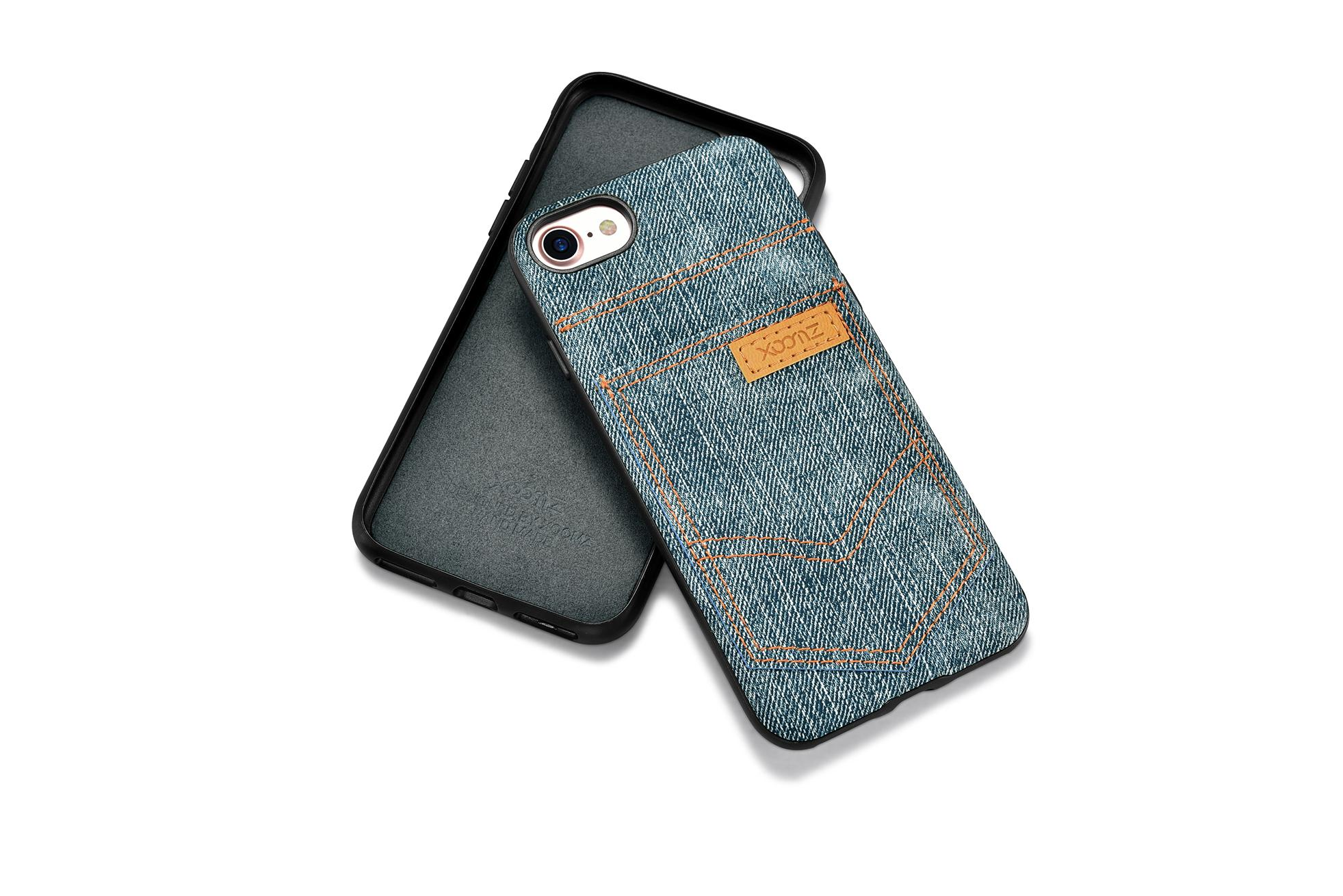 Xoomz iPhone 7 Jeans Pocket PU Back Cover 15