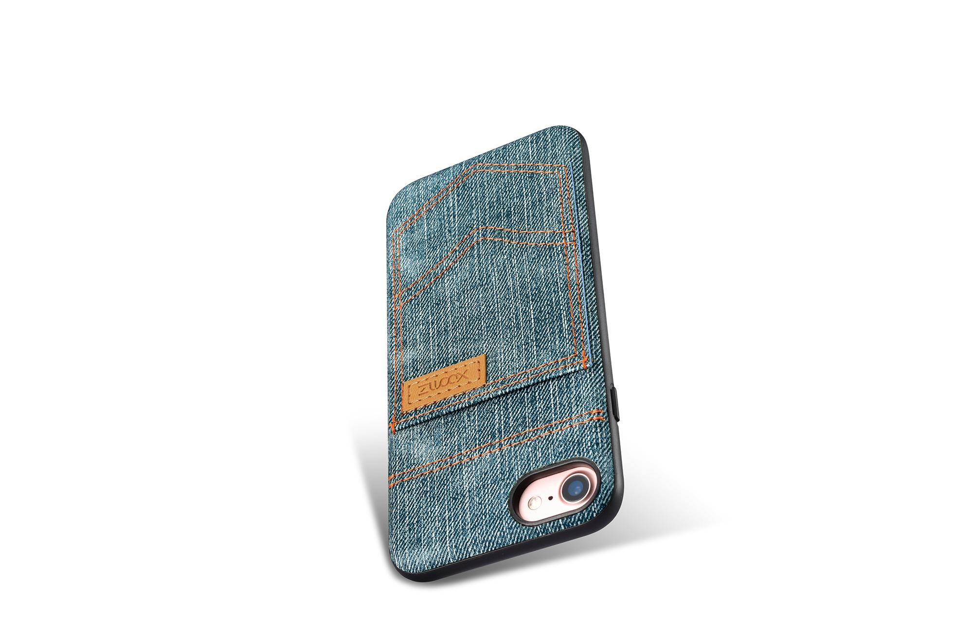 Xoomz iPhone 7 Jeans Pocket PU Back Cover 13