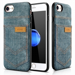 Xoomz iPhone 7 Jeans Pocket PU Back Cover