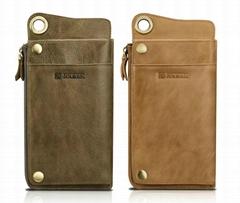 Shenzhou Real Leather Multiple Credit Card Wallet