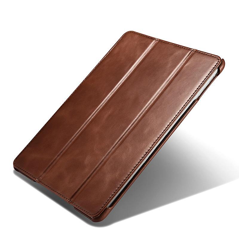 iCarer 2017 Luxury Genuine Leather Flip Case for New iPad 9.7 inch 2