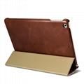 iCarer 2017 Luxury Genuine Leather Flip Case for New iPad 9.7 inch 5