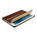 iCarer 2017 Luxury Genuine Leather Flip Case for New iPad 9.7 inch 3