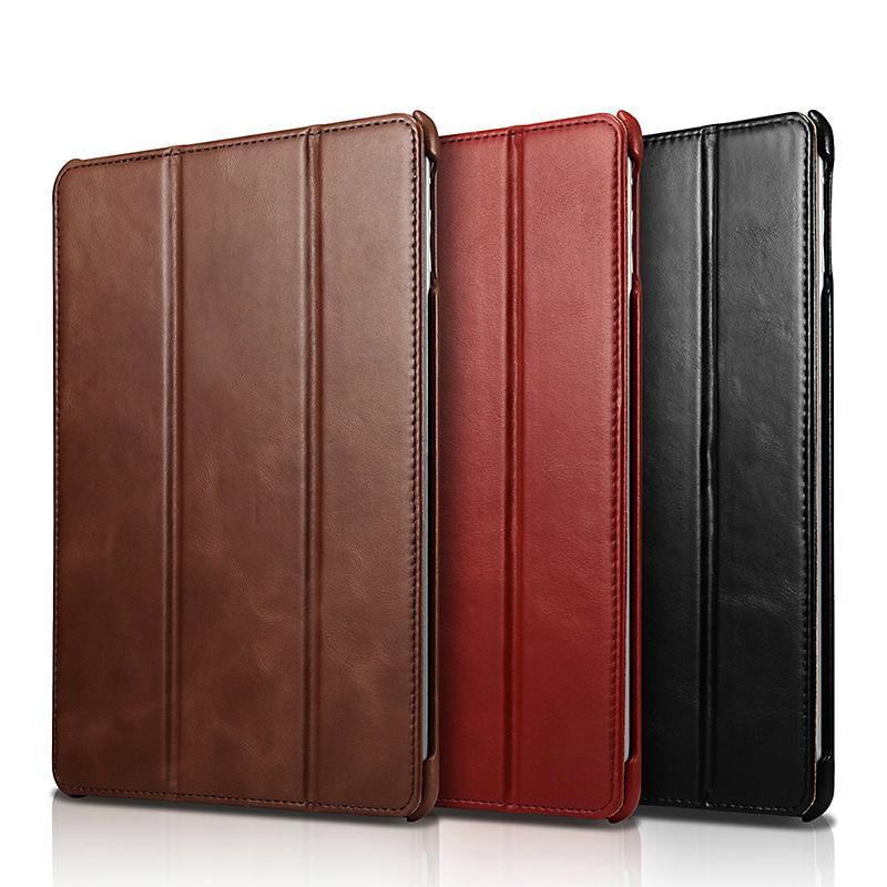 iCarer 2017 Luxury Genuine Leather Flip Case for New iPad 9.7 inch 6