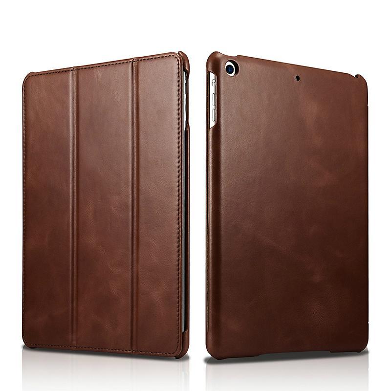 iCarer 2017 Luxury Genuine Leather Flip Case for New iPad 9.7 inch 1