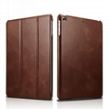 iCarer 2017 Luxury Genuine Leather Flip Case for New iPad 9.7 inch