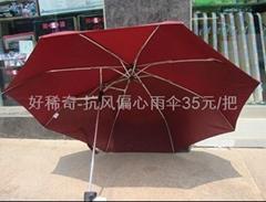 抗風偏心雨傘