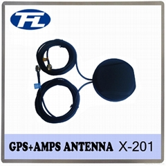 Magnet/Adhesive/Screw mount quad band GPS/GSM combination antenna 2 to 1 antenna