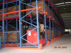 廣東通廊貨架定製-牛腿貨架生產-海力駛入式貨架-通廊重型貨架架
