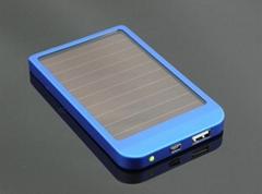 批发 超薄太阳能移动电源 光能充电宝2600毫安智能通用型聚合物