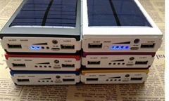 10000mAh USB Universal External Solar Battery Charger Power Bank for iPhone iPod