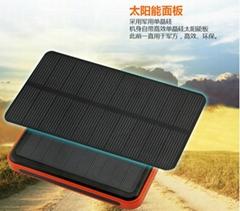 太陽能移動電源充電寶20000mAh毫安三防超薄聚合物小米通用特價