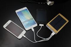 厂家直销批发聚合物新款太阳能手机充电宝10000mah毫安移动电源