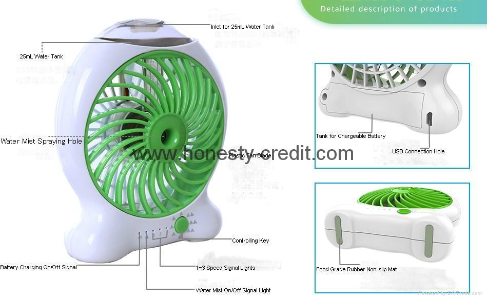 USB & Mini Fan With Water Spray 1