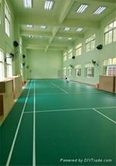 高分子卷材PVC室内运动场地耐磨防滑防刮防火