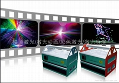 Water screen laser light