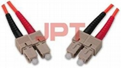 Fiber Optic LC--SC MM Duplex Patch Cord