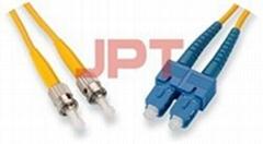 ST/PC--SC/PC SM Duplex Patch Cord