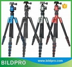 Colorful CNC Aluminum Camera Tripod Carbon Fiber Video Camera Stand