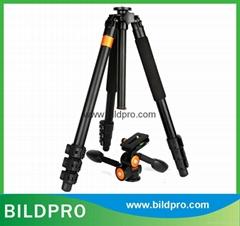 32mm Aluminum Tripod Extendable Telescopic Video Camera Tripod Fluid Head