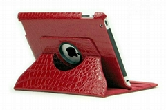 Crocodile Texture Leather Case with 360 Rotating Stand for Apple iPad 2/3/4/Air