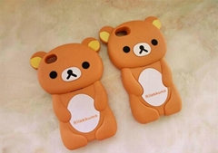 Cute Rilakkuma Cartoon Bear Phone Case for iphone 4S/5/5S,Silicon Phone Case