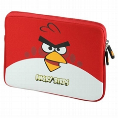 "9.7 inch Angry Bird Universal Soft Cloth Case Bag for ipad &9.7"" Tablet PC MID"
