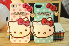 2014 New Cute Hello Kitty Soft Silicon Phone Case for iphone 4 4S 5 5S