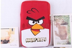 Angry Bird Soft Cloth Case Bag for 7 inch Tablet PC New design for tablet case
