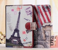 New Arrival 7 inch Color Printing Retro Universal Leather Case for Tablet PC
