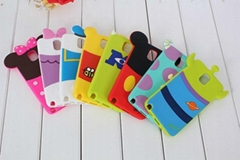Disney Cartoon Silicon Mobile Phone Case Cover for Samsung Galaxy Note 2 Note 3