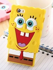 SpongeBob Cartoon Soft Rubber Silicon Cell Phone Case for Apple iphone 5 5S 4 4S