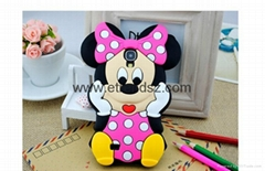 Disney Cartoon Mickey Minnie Mouse Phone Case for Samsung Galaxy S3,S4,S5,Note 3