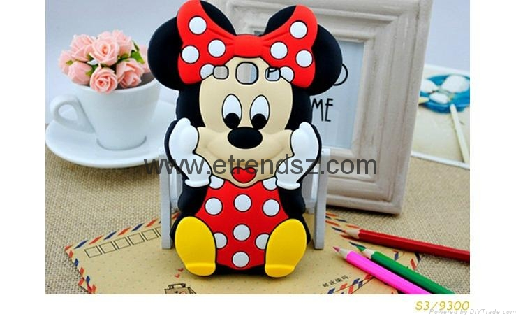 Disney cartoon mickey minnie mouse phone case for samsung galaxy s3 s4 s5 note 3 ip569 oem - Minnie mouse mobel ...