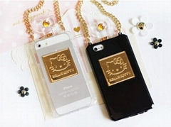 Luxury Hello Kitty Perfume Bottle TPU Mobile Phone Case for iPhone 5/5S/4/4S