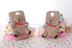 Teddy Bear 3D Cartoon Silicon Phone Cases for Samsung Galaxy S4, Note 2