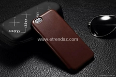 Quality Genuine Leather+TPU Back Case for Apple iPhone 6 6G Luxury Leather Cover