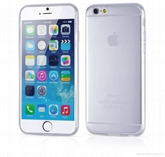 For iphone 6 Pure Color 0.3 mm Ultra Thin Clear TPU Case Soft Back Cover 4.7""