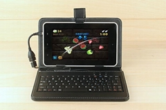 Leather Case with Keyboard for 7inch tablet pc -USB Cable Wired