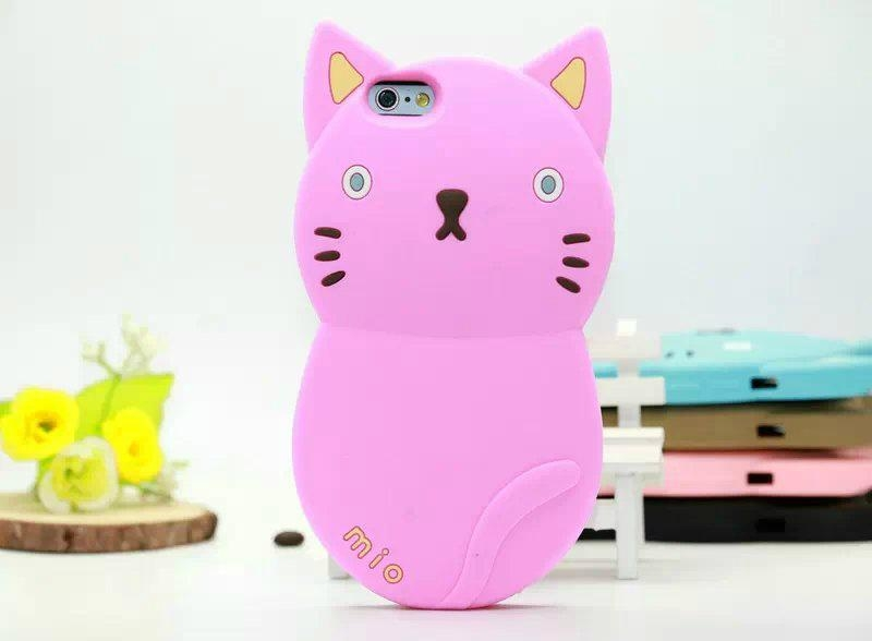 on sale ee4d1 6c0d0 Popular Cut 3D Cat Silicon Phone Case Cover for iphone 6 4.7 inch,