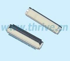 0.5mm1.2mm高连接器(翻盖/掀盖FFC/FPC) 液晶屏连接器