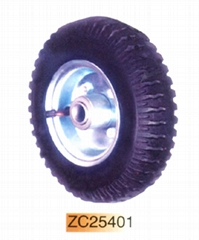 Rubber wheel and solid tyres