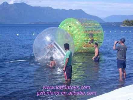 Inflatable Water Toy: Human Water Roller Rolling Ball. 4