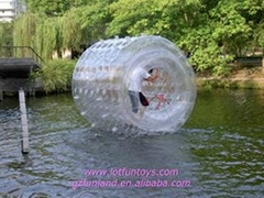 Inflatable Water Toy: Human Water Roller Rolling Ball.