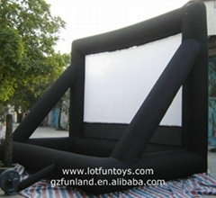 Inflatable Cube Movie Screen for Advertising