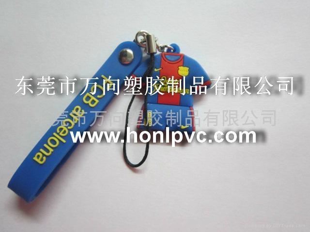 PVC软胶手机绳   PVC滴胶手机吊绳 3