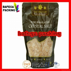 Custom waterproof bags /200g 500g 1kg printed salt bag grade plastic food bag /c