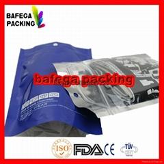 transparent advertising plastic zipper bag underwear bag