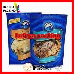 Food packaging aluminum foil plastic bags resealable aluminum foil packaging bag