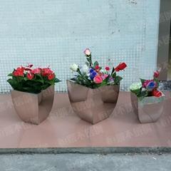 不锈钢方锥花盆